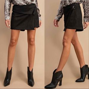 Pants - Faux Suede Skirt